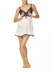 Bassoni Ivory Pleated Chemise