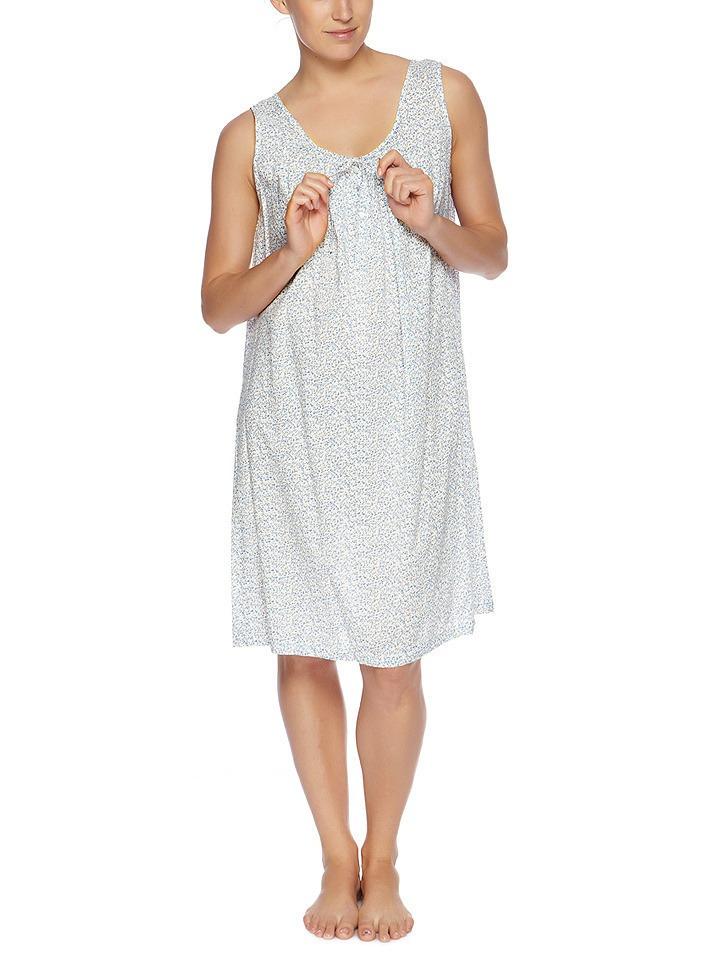 Kaye jones blue short cotton nightie from sleepwear online