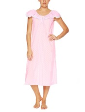Vikki James Contessa Flounce Nightie Pink